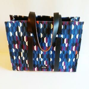 Saturday by Kate Spade Geometric Canvas Tote